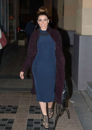 Dannii Minogue - Arrives at The Project in Melbourne