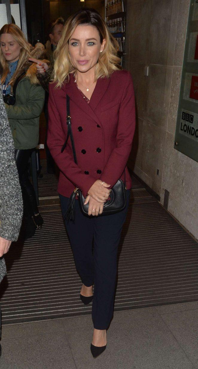 Dannii Minogue - Leaving BBC Studios in London