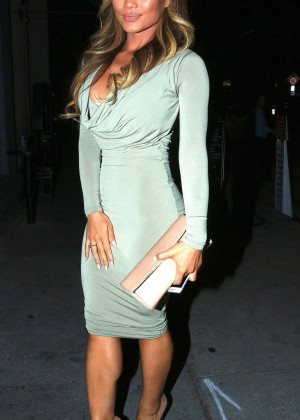 Daphne Joy in Tight Dress at Craig's in West Hollywood