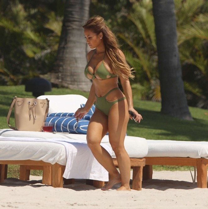Daphne Joy in Green Bikini in Punta Mita