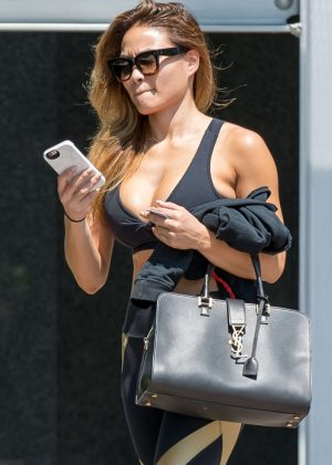 Daphne Joy in Tights Leaves the gym in Los Angeles