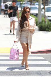 Daphne Joy -Leaving a lunch party at Pretty Little Things in LA