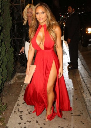 Daphne Joy in Red Dress out in West Hollywood