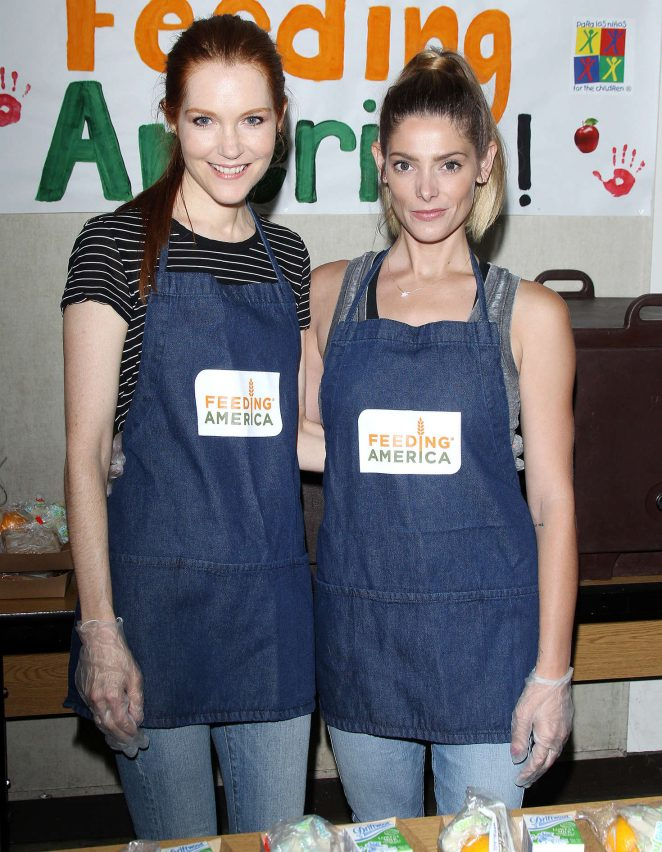 Darby Stanchfield and Ashley Greene - Feeding America: Put The Heat On Hunger in LA