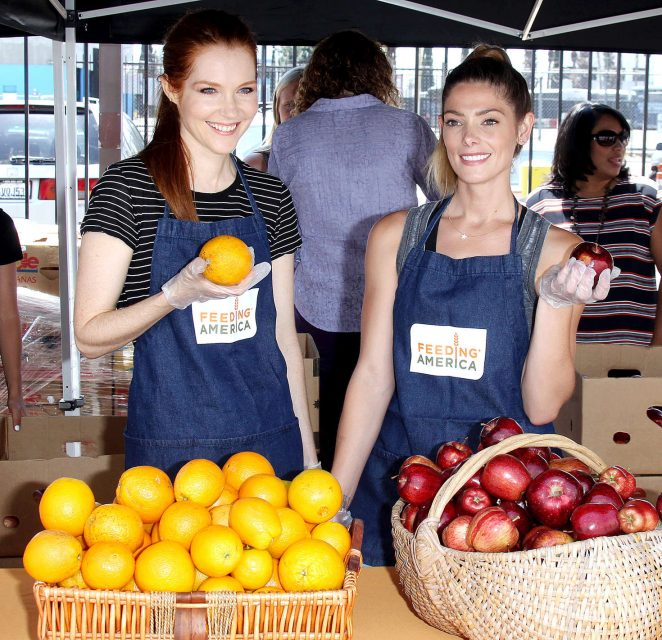 Darby Stanchfield and Ashley Greene: Feeding America Put The Heat On Hunger -17