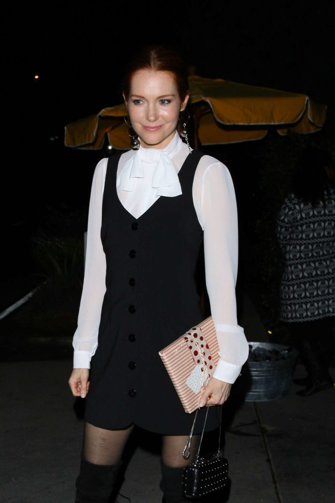 Darby Stanchfield - Heads to a house party in Los Angeles