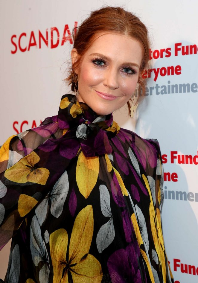 Darby Stanchfield - The Actors Fund's 'Scandal' Finale Live Stage Reading in Hollywood