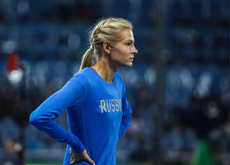 darya klishina of russia at womens long jump qualifying