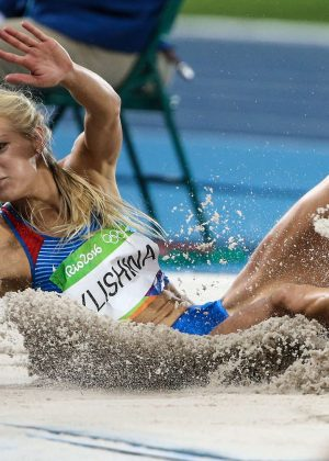 Darya Klishina of Russia at Women's long jump Qualifying 2016 in Rio de Janeiro