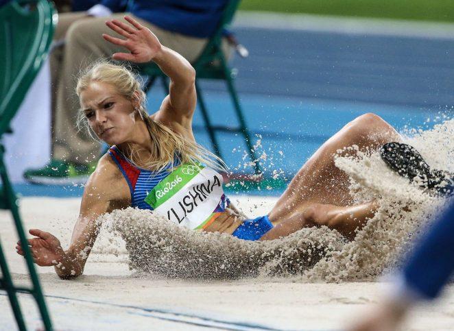Darya Klishina of Russia at Women's long jump Qualifying 2016 in Rio de Janeiro