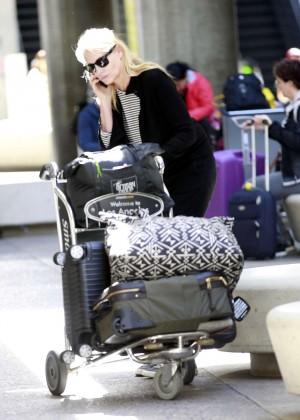 Daryl Hannah at LAX Airport in Los Angeles