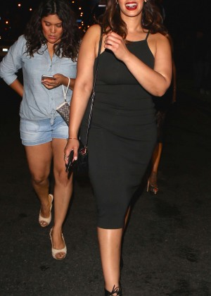 Dascha Polanco in Tight Dress at 1OAK Nightclub in LA