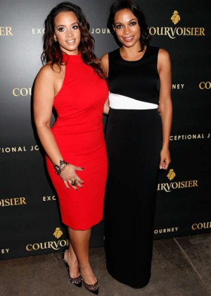Dascha Polanco and Rosario Dawson - Courvoisier Cognac's 'Exceptional Journey' Event in NYC