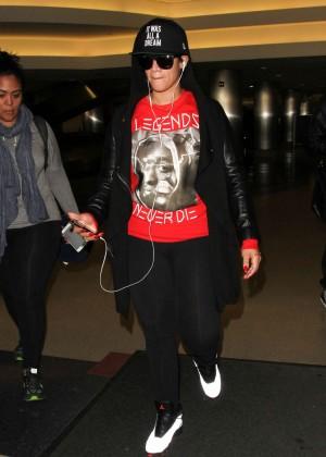 Dascha Polanco - Arrives at LAX Airport in LA