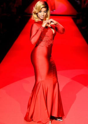 Dascha Polanco - Go Red For Women Red Dress Collection 2015 in NYC