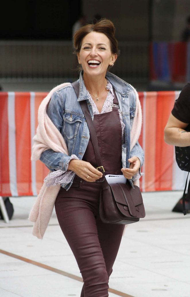 Davina McCall – Leaving the BBC House in London