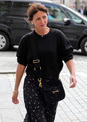 Davina McCall out in London