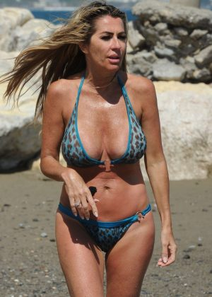 Dawn Ward - Wearing Bikini in Marbella