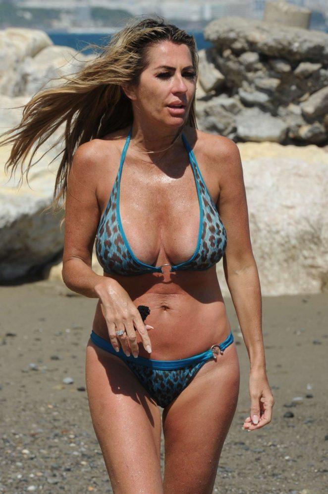 Dawn Ward - Wearing Bikini in Marbella