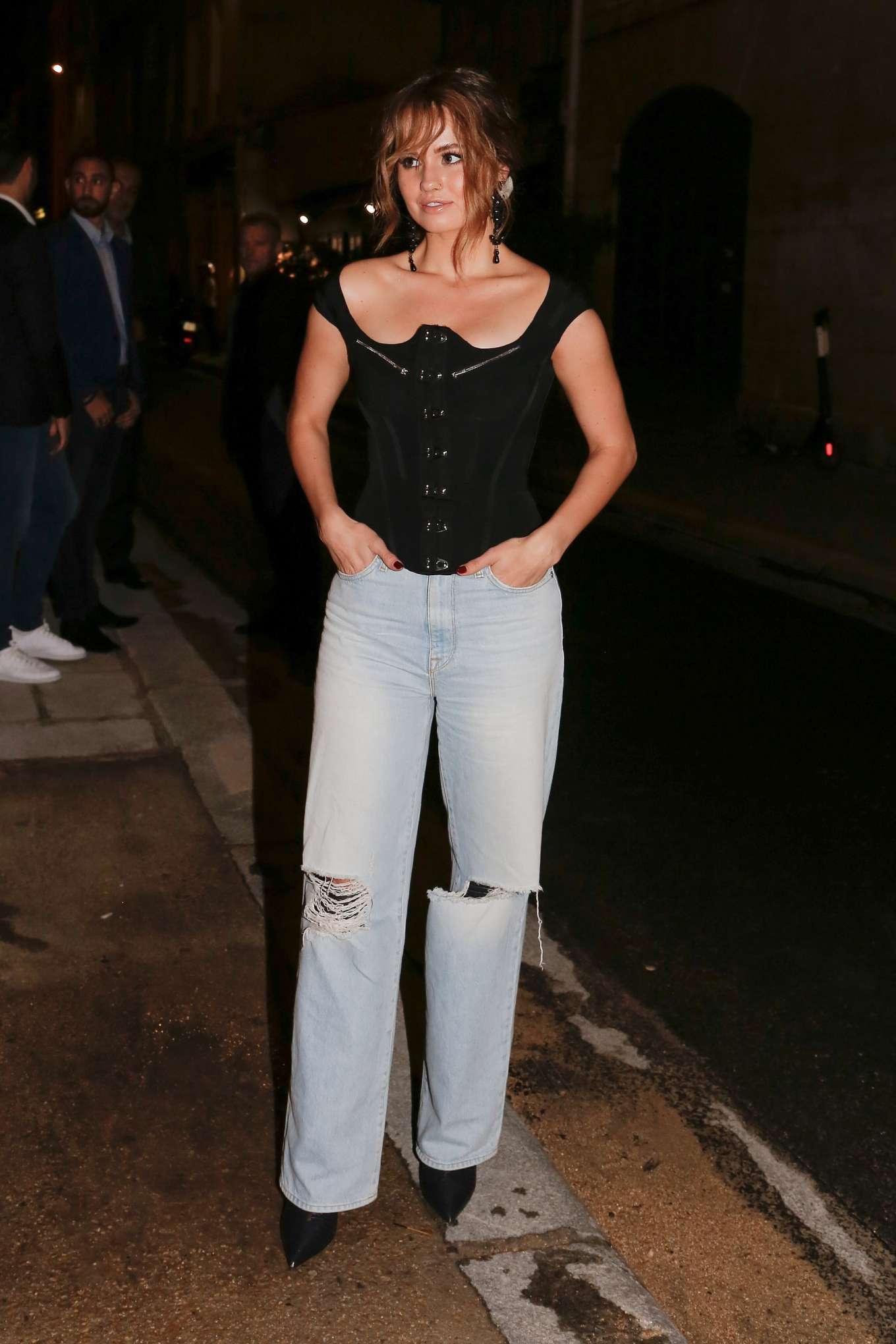 Debby Ryan - Arriving at Karl Lagerfeld Cocktail at Paris ...