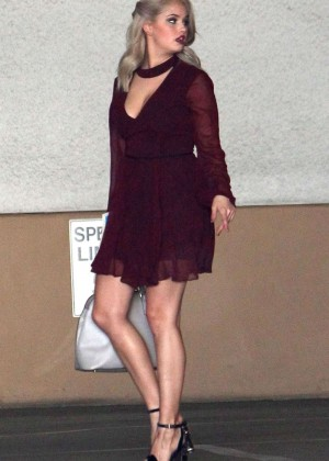 Debby Ryan in Mini Dress Out in West Hollywood