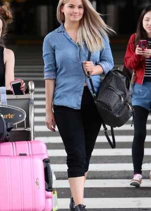 Debby Ryan - LAX airport in Los Angeles