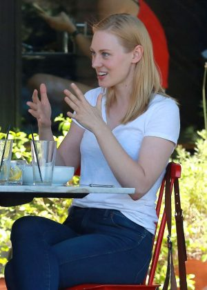 Deborah Ann Woll out for lunch in Hollywood