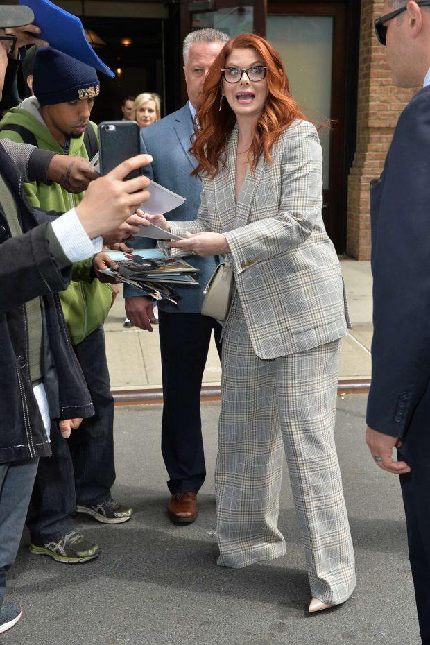 Debra Messing: Leaving the Tribeca Film Festival Luncheon -01