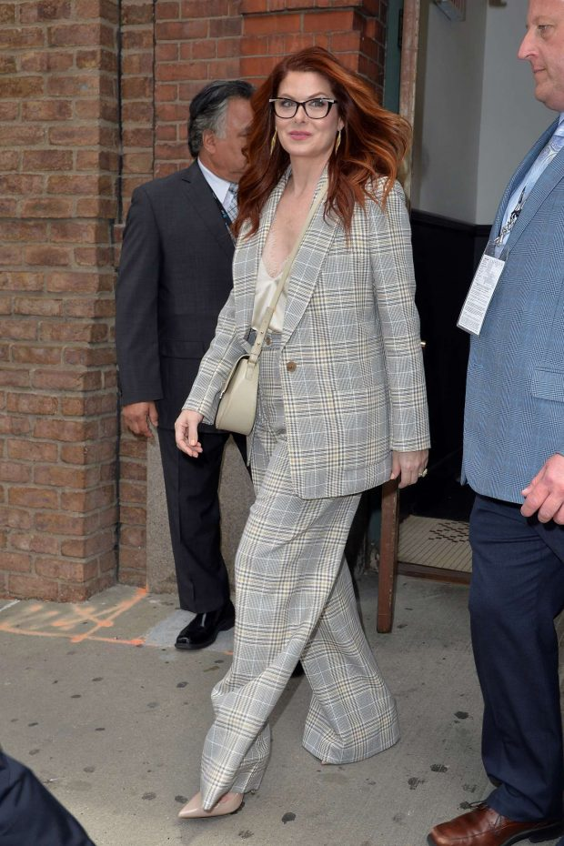 Debra Messing - Leaving the Tribeca Film Festival Luncheon in NY