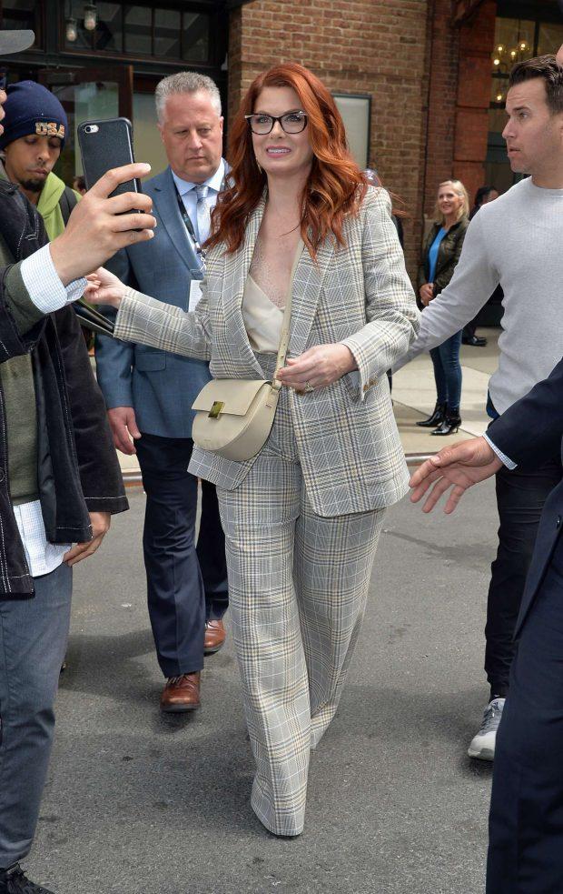 Debra Messing: Leaving the Tribeca Film Festival Luncheon -04