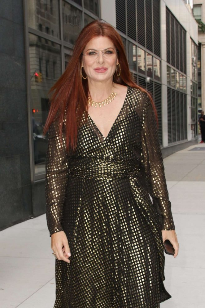 Debra Messing - Leaving 'Watch What Happens Live' in New York