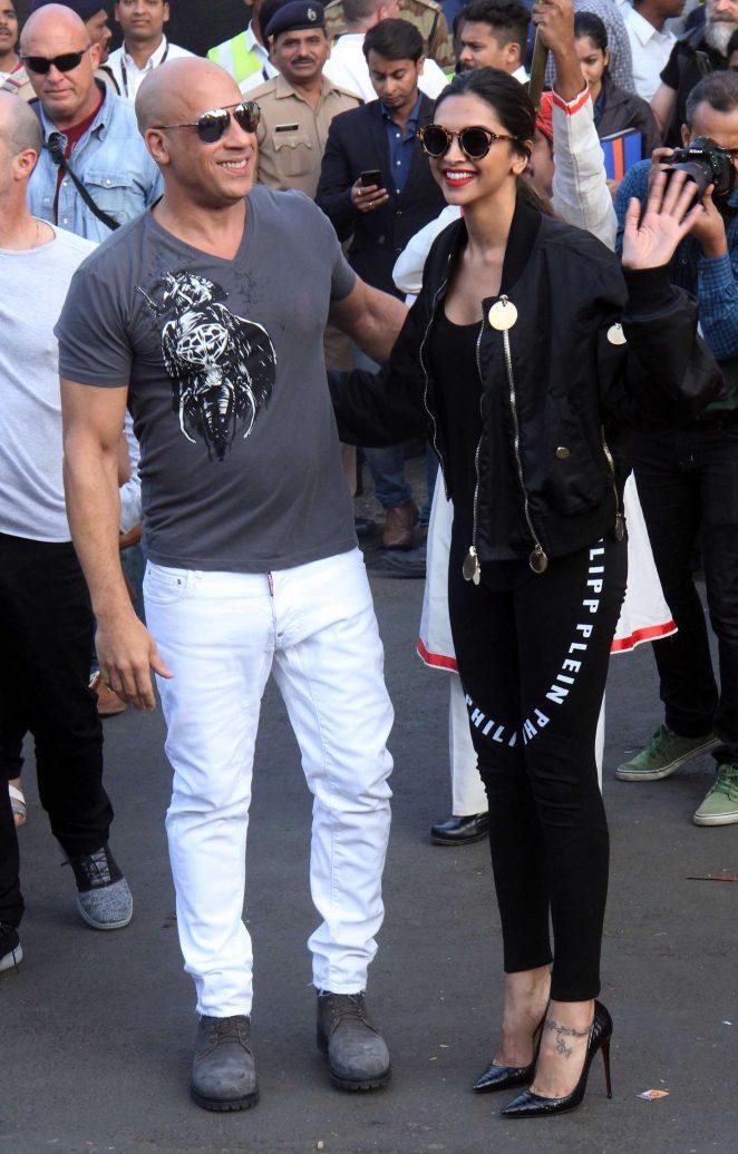 Deepika Padukone and Vin Diesel Arrives at Airport in Mumbai