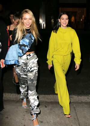 Delilah and Amelia Hamlin at TAO Restaurant in Hollywood