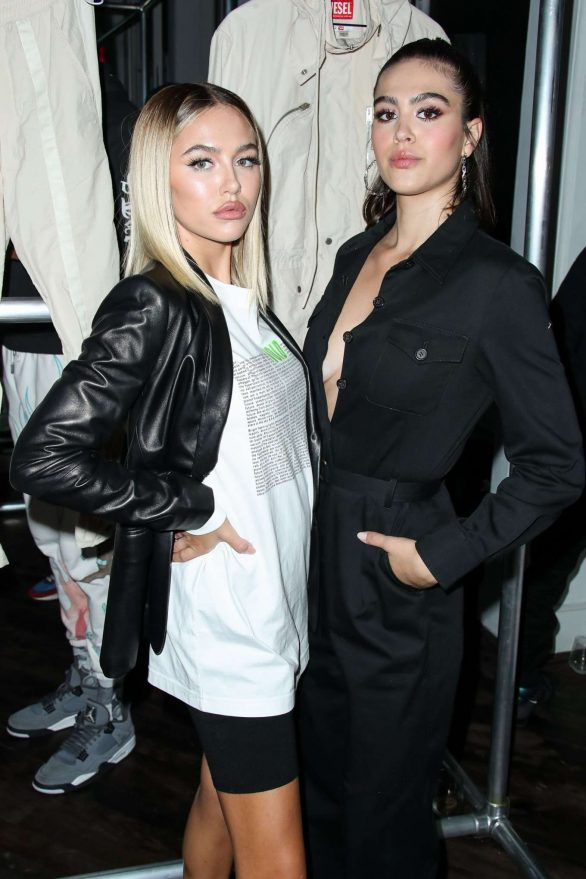 Delilah and Amelia Hamlin - Diesel Red Tag x A-Cold-Wall Dinner SS 2020 at 2019 New York Fashion Week