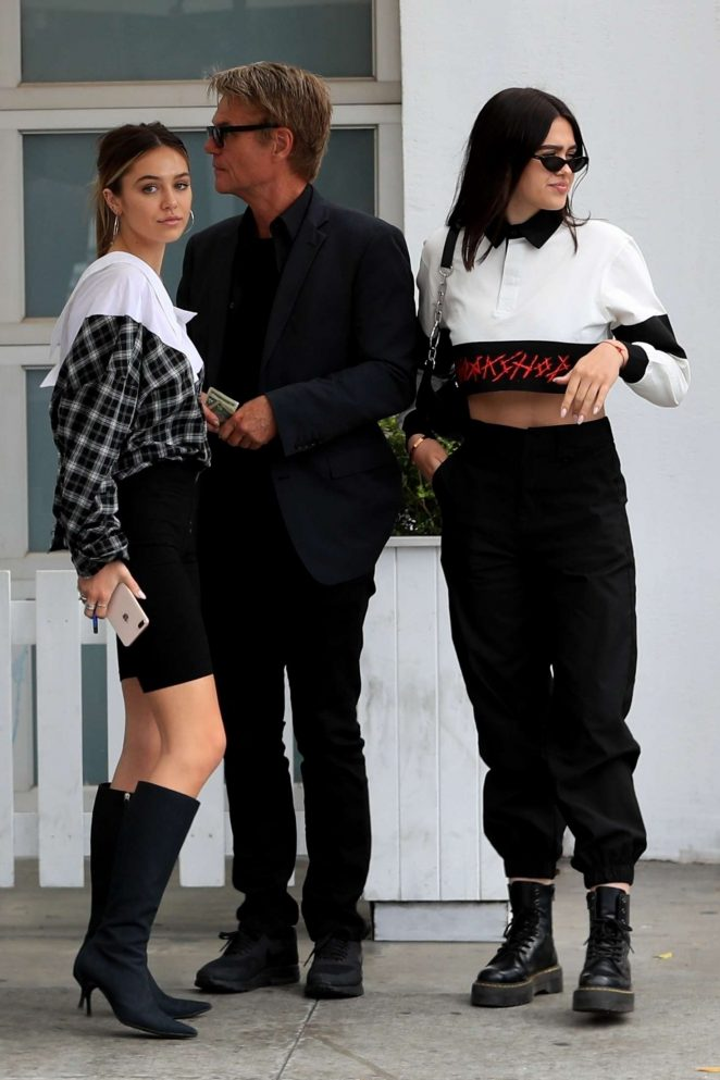 Delilah and Amelia Hamlin out for lunch in West Hollywood