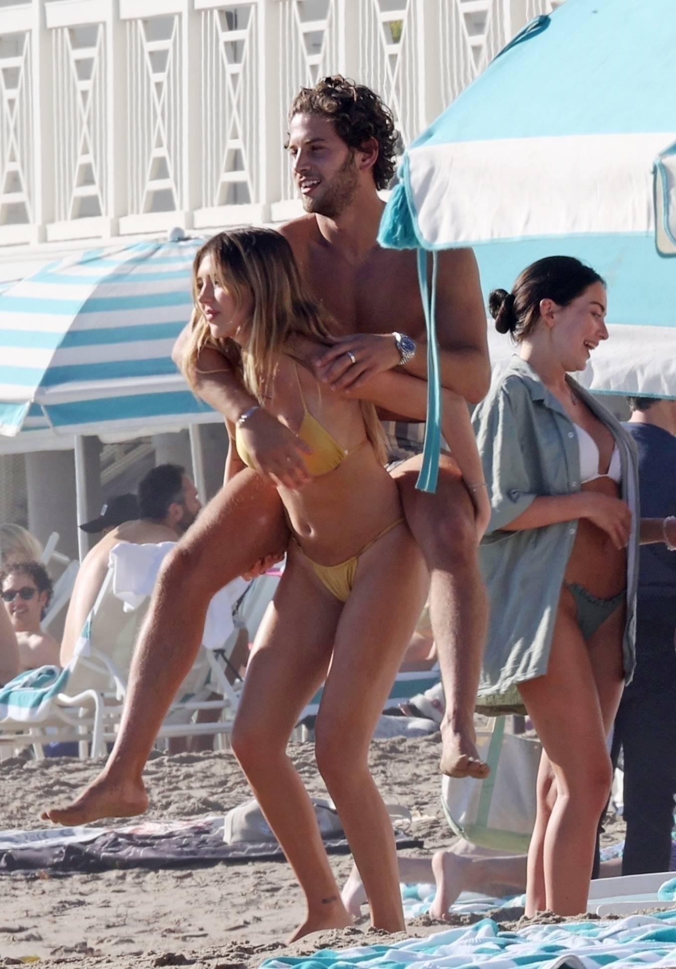 Delilah Belle and Amelia Gray Hamlin - bikini at a beach in Santa Barbara