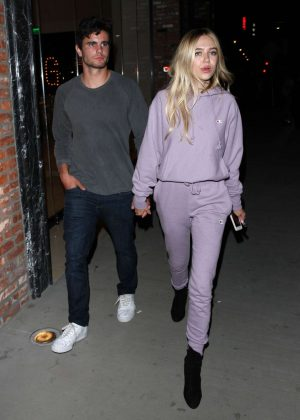 Delilah Hamlin and boyfriend Aidan Reilly Leave the Avenue club in Hollywood