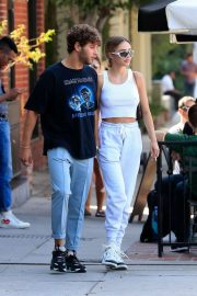 Delilah Hamlin and Eyal Booker at Alfred Coffee in West Hollywood