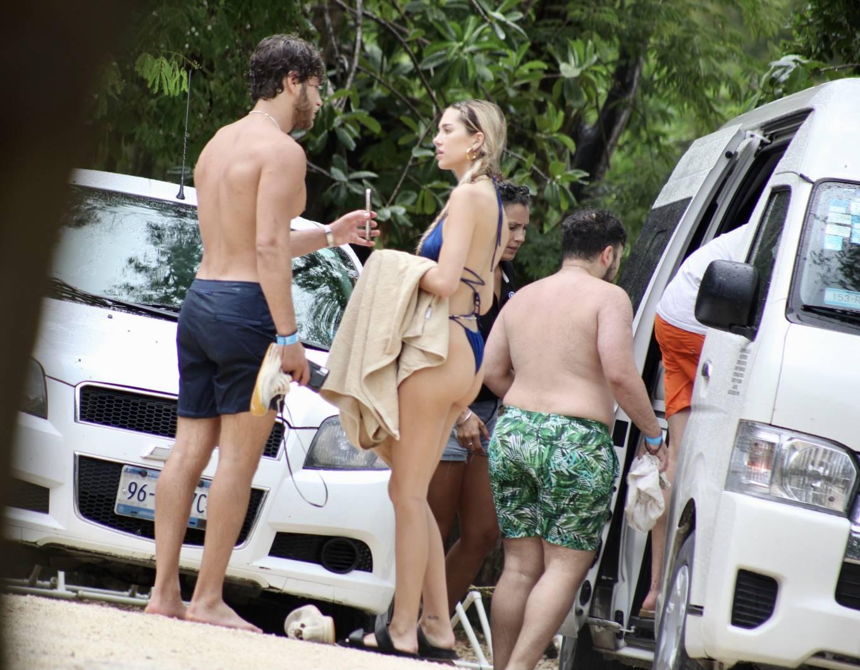Delilah Hamlin - In a blue bikini in Tulum with friends