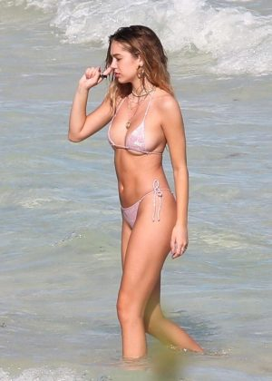 Delilah Hamlin in Bikini on the beach in Tulum