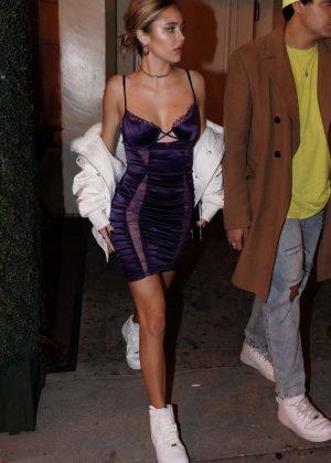 Delilah Hamlin - Leaves Delihlah night club in Los Angeles