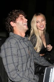 Delilah Hamlin with Eyal Booker - Leaving dinner at Catch in West Hollywood