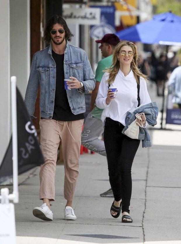 Delta Goodrem and boyfriend Matthew Copley - Out for coffee in LA