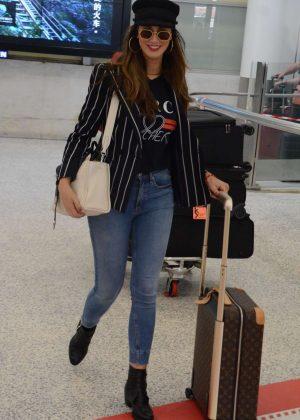 Delta Goodrem - Arives at Airport in Australia