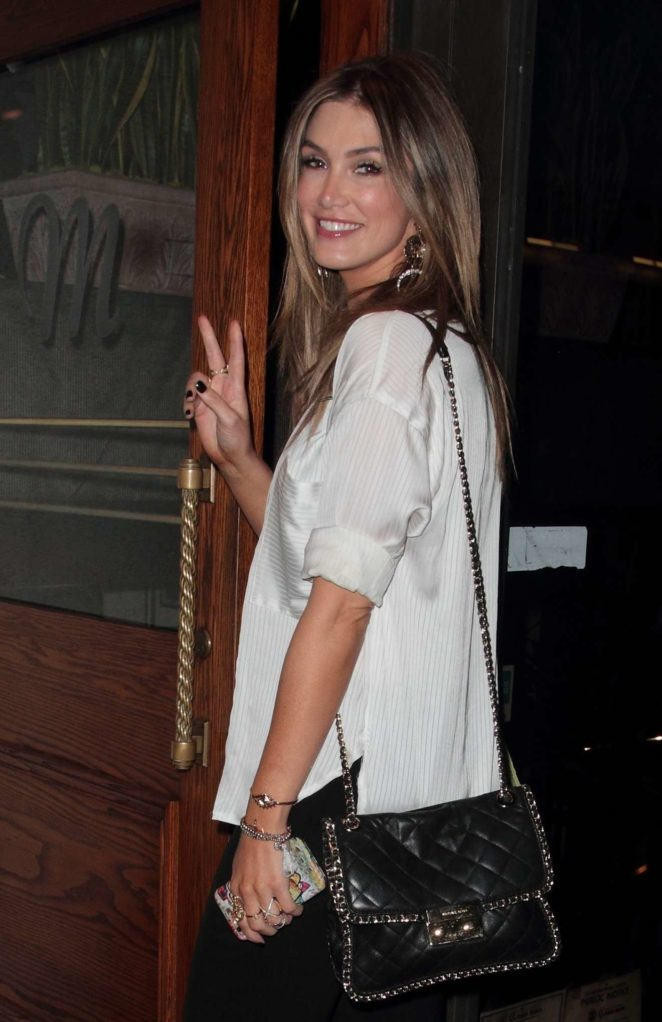 Delta Goodrem - Arrives at Madeo in West Hollywood