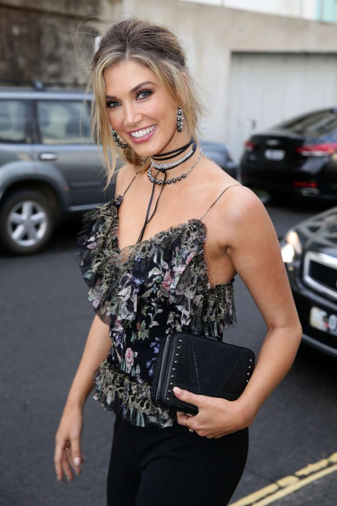 Delta Goodrem at 'The Voice' welcome dinner in Sydney