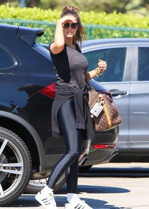 Delta Goodrem in Tights - Out in LA