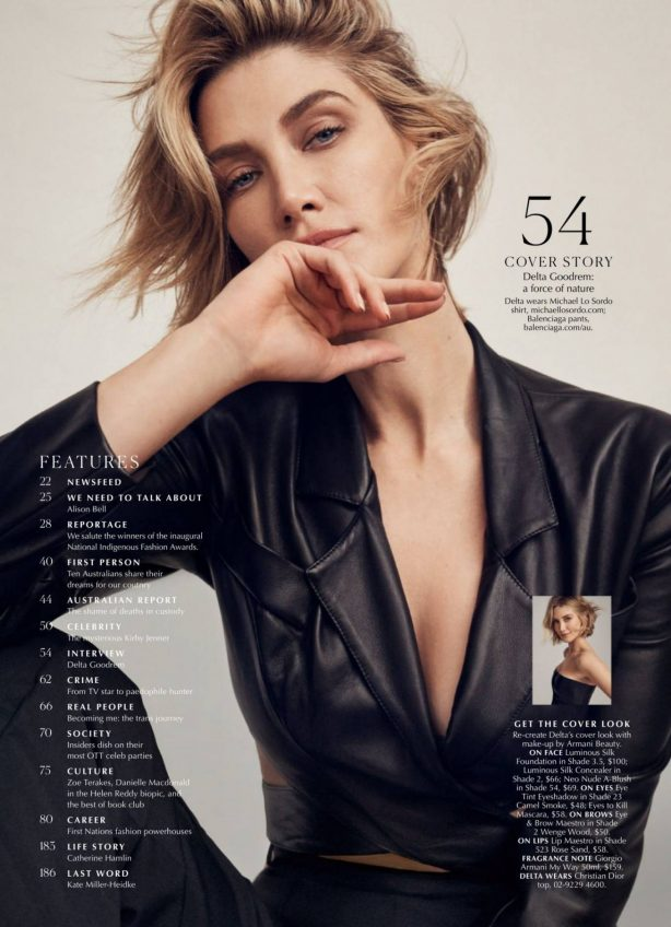 Delta Goodrem - Marie Claire magazine (Australia - September 2020)