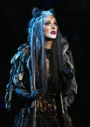 Delta Goodrem - Performs a scene from CATS during the CATS media call in Melbourne