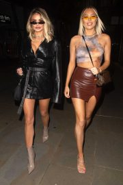 Demi and Chloe Sims at The Ivy Asia St Paul's in London